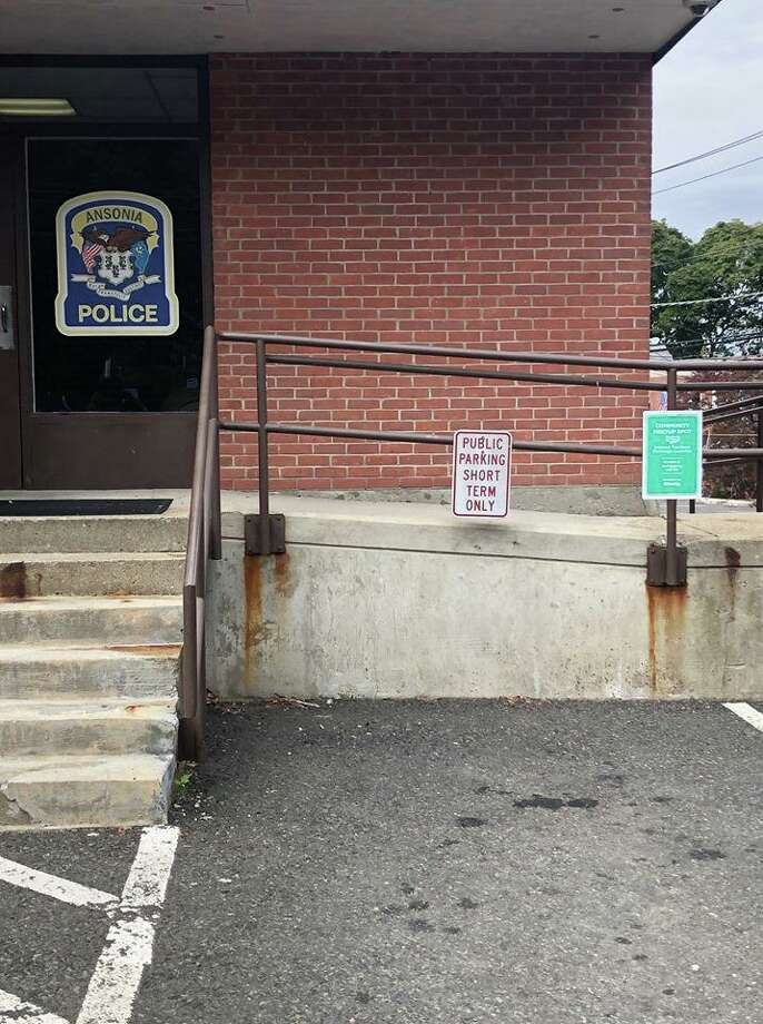 The new community meet up spot for online transactions, installed at Ansonia PD. Photo: Contributed Photo / Ansonia Police Department