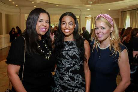 "Lauren Randle, from left, Candice Young and Ingrid Carrasco at the Baylor College of Medicine Teen Health Clinic's annual ""Hope for the Future"" luncheon at River Oaks Country Club on October 15, 2019."