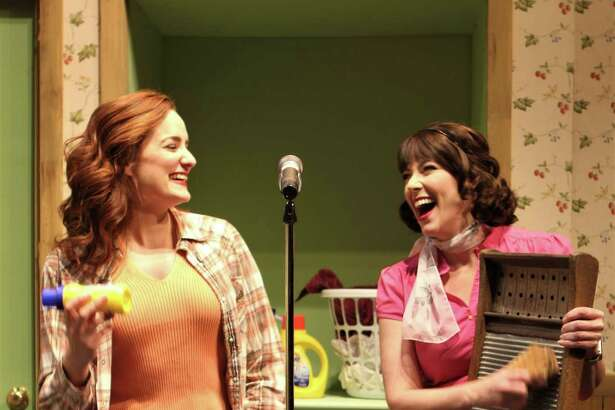 """Carlyn Connolly as Lana Mae and Laura Hodos as Katie Lanein Seven Angels Theatre's production of """"Honky Tonk Laundry."""""""