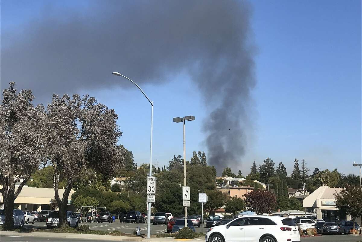 At least two tanks caught on fire following an explosion at a tank farm at NuStar energy facility in Crockett, California, in Contra Costa County on Tuesday October 15, 2019.