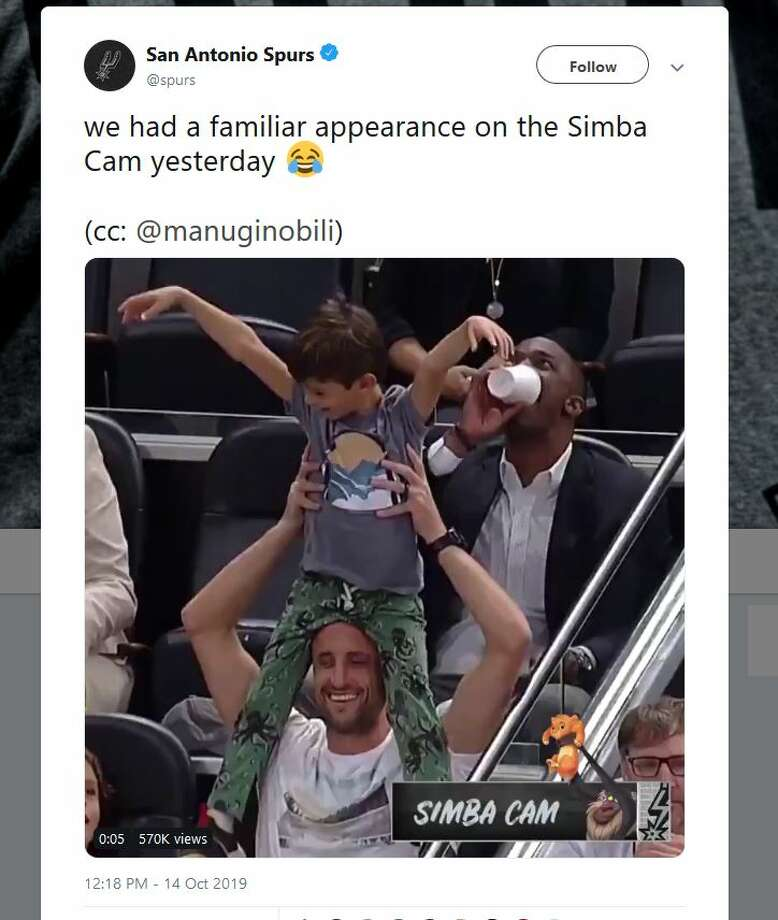 We had a familiar appearance on the Simba Cam yesterday. (cc: @manuginobili) Photo: San Antonio Spurs Twitter