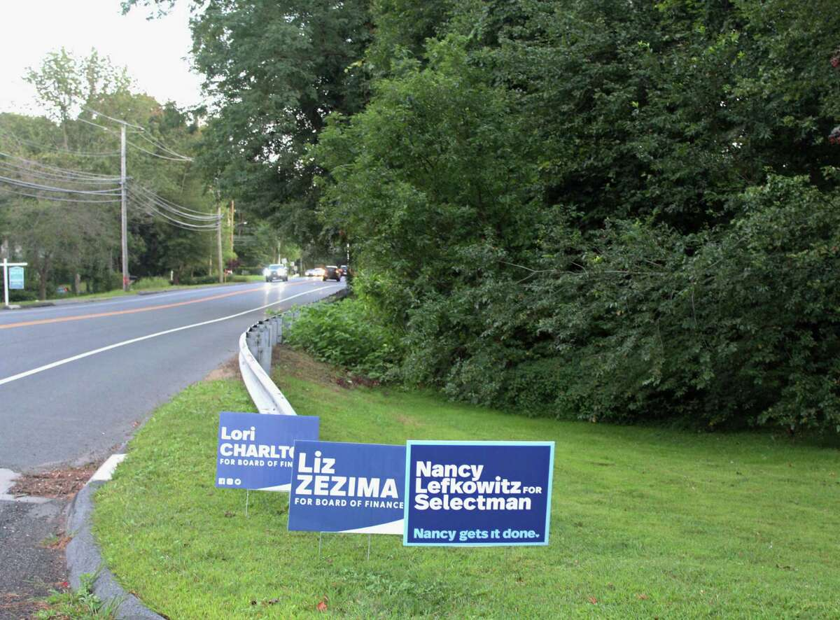 Lawn signs for candidates running in November's municipal elections are spread throughout Fairfield.