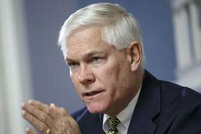 FILE - In this Feb. 2, 2015 file photo, U.S. Rep Pete Sessions, R-Texas, opens a meeting of the House Rules Committee at the Capitol in Washington. Former congressman Sessions of Texas is expected to run again for Congress in 2020 but not in his longtime Dallas district that Democrats flipped last year. A former aide to Sessions didn't return a message seeking comment Tuesday night, Oct. 1, 2019. (AP Photo/J. Scott Applewhite, File)
