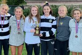 Trumbull's girls' cross country team placed second at the FCIAC Championships.