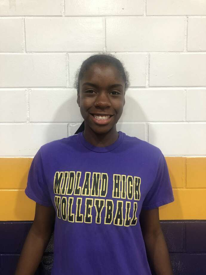 Midland High volleyball player Aniya Clinton