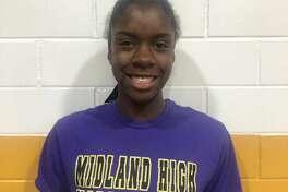 Midland High volleyball player Aniya Clinton