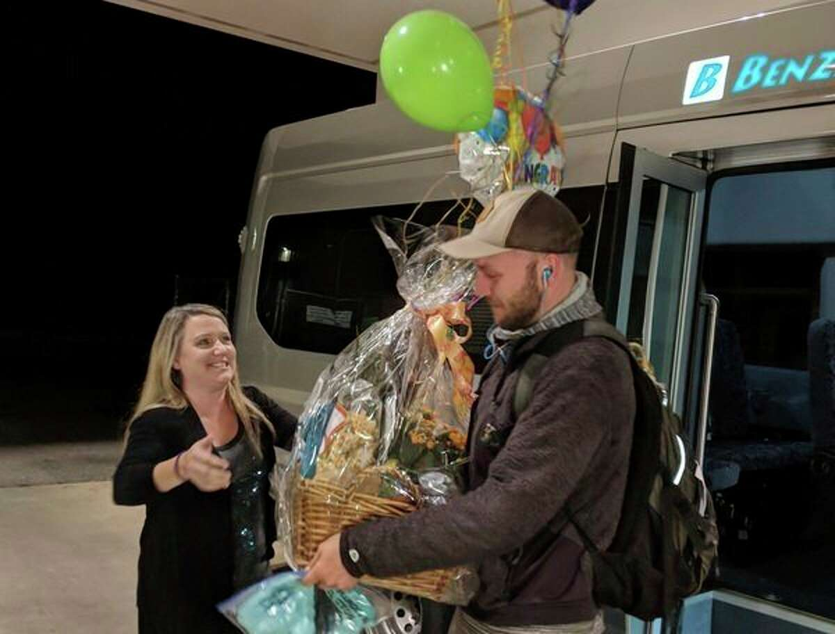 Nate Ely was the millionth rider on the Benzie Bus, which he takes on his daily commute from Traverse City to his job in Benzie County. (Courtesy photo)