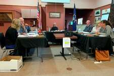 Evart city council members expressed their opposition to a proposal that the city vacate sections of First Street and Washington Street to the Evart Housing Commission at their meeting on Monday, Oct. 7.Council decided to further research the issue and take it up again at a later meeting. (Herald Review photo/Cathie Crew)
