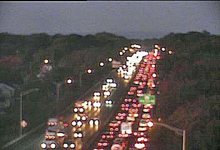 There are nearly two miles of delays on I-95 in West Haven after an accident involving a tractor-trailer and another vehicles closed two lanes on Wednesday, Oct. 16, 2019. Photo: /