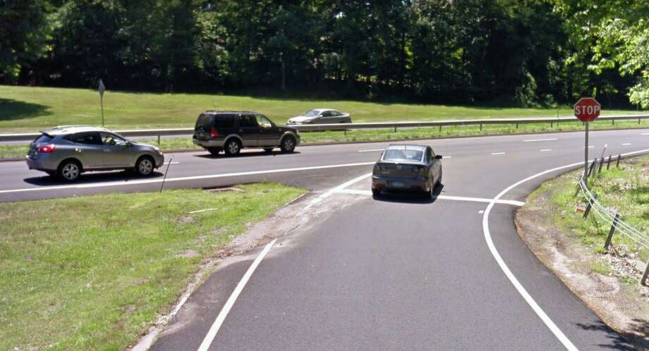 With the goals of reducing number of rear-end crashes and easing congestion, a redesigned Route 15 entrance ramp from Route 34 is being designed. The state Department of Transportation's Office of Engineering is developing plans to widen the highway and add an acceleration lane for traffic merging onto southbound Route 15 at Exit 57 in Orange. Photo: Google Street View