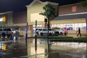 Montgomery County investigators are searching for a man they said entered the College Park Walmart near The Woodlands Wednesday and fired fired one shot.