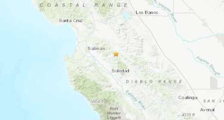 After a magnitude 4.7 earthquake rattled the South Bay Tuesday afternoon, a magnitude 3.4 aftershock struck the same area near Hollister early Wednesday morning. Photo: USGS