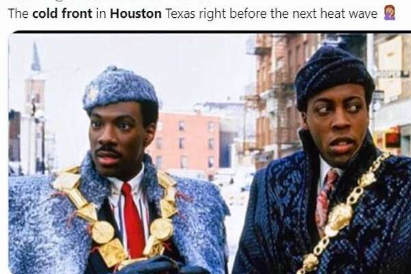 "Social media reacts to Houston's ""cold front."""