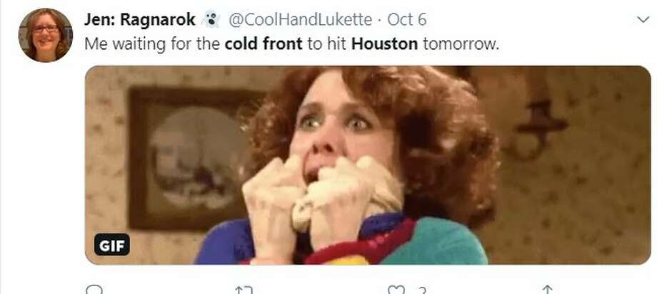 "Social media reacts to Houston's ""cold front.""