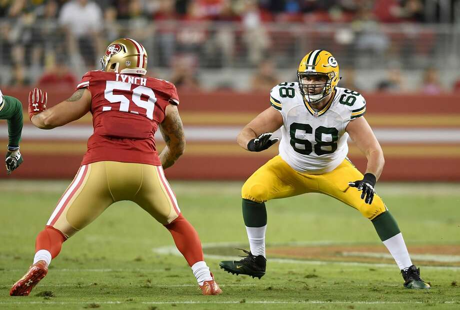 PHOTOS: Texans vs. Chiefs SANTA CLARA, CA - AUGUST 26:  Offensive tackle Kyle Murphy #68 of the Green Bay Packers pass protects against outside linebacker Aaron Lynch #59 of the San Francisco 49ers during the second half of their game at Levi's Stadium on August 26, 2016 in Santa Clara, California.  (Photo by Thearon W. Henderson/Getty Images) >>>See more photos from the Texans' win against Kansas City on Sunday ... Photo: Thearon W. Henderson/Getty Images
