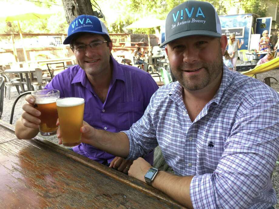 Viva Brewery co-founders Bobby Jones (left) and Michael Johnson will unveil one of their beers to the public at the Pigpen Bar on Wednesday from 4:45 p.m. to 6 p.m. Photo: Chuck Blount /Staff