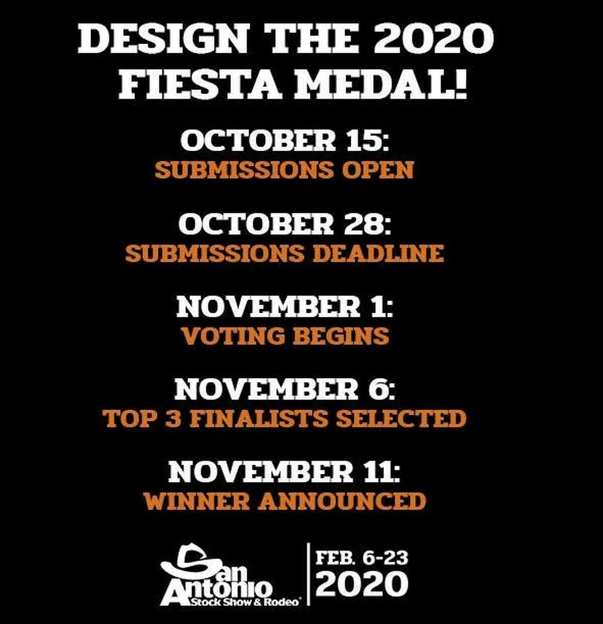 The San Antonio Stock Show & Rodeo is asking the public to help design its 2020 Fiesta medal.
