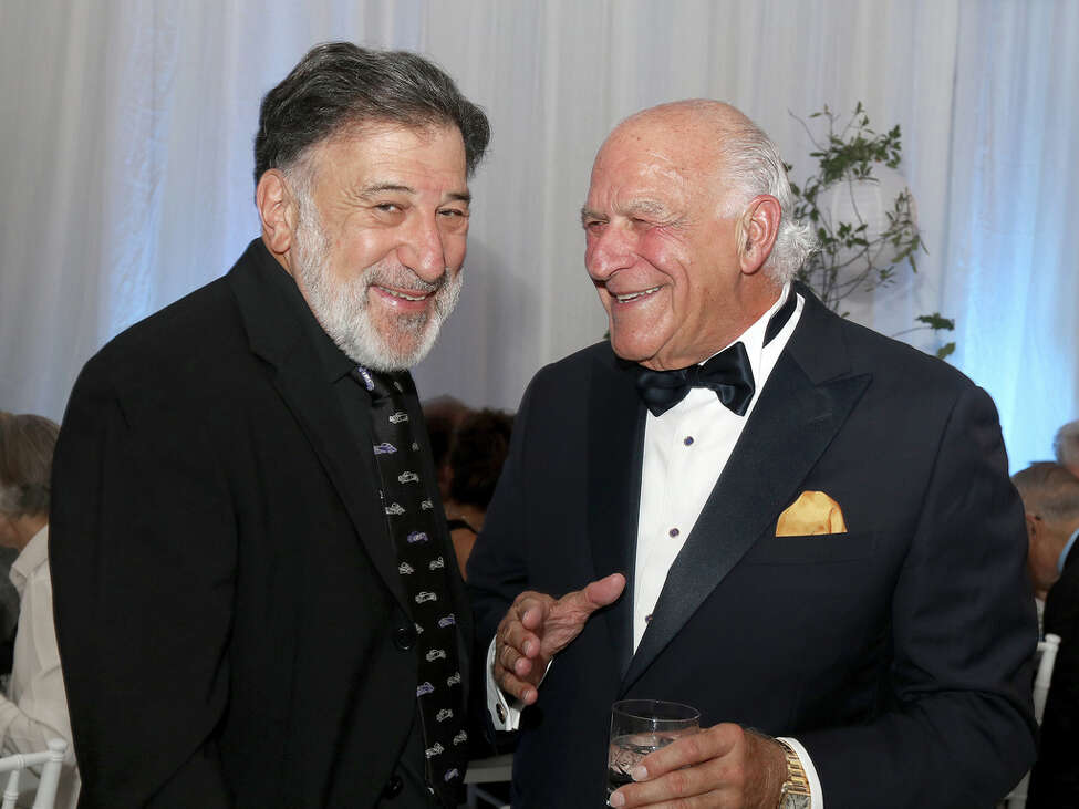 Saratoga Springs, NY - August 11, 2018 - (Photo by Joe Putrock/Special to the Times Union) - Gary Brown, left, talks with Anthony DePaula during the National Museum of Dance Gala in Saratoga Springs.