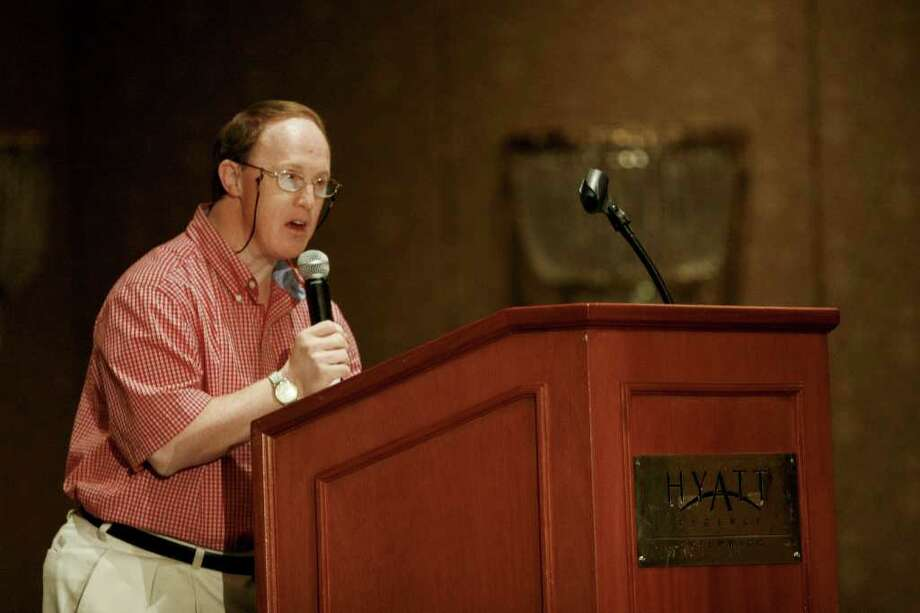 Actor Chris Burke speaks at a lunch for siblings of developmentally disabled people at the Hyatt Regency in Greenwich on Saturday, August 7, 2010. Photo: Laura Buckman / Connecticut Post