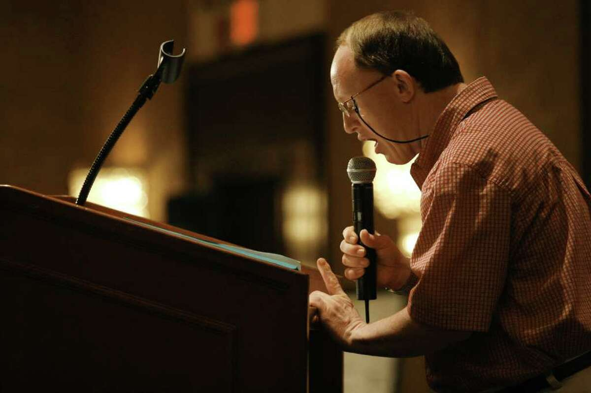 Actor Chris Burke speaks at a lunch for siblings of developmentally disabled people at the Hyatt Regency in Greenwich on Saturday, August 7, 2010.
