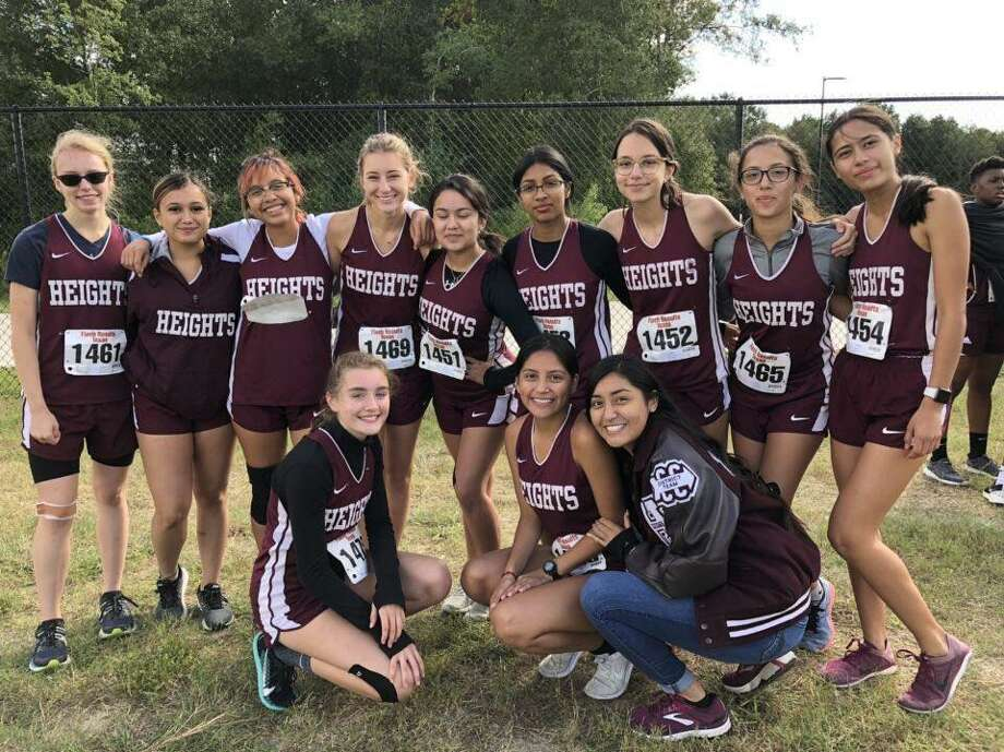 The Heights girls cross country team won the District 18-6A championship with a score of 36 points, finishing ahead of fellow regional qualifiers Bellaire (38) and Carnegie Vanguard (50). Photo: Heights High School / Heights High School