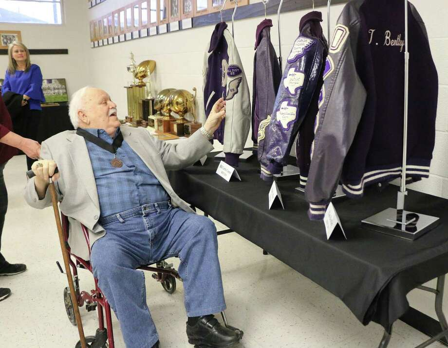 Leard Conner was in complete amazement as he traversed around the Dayton ISD Hall of Fame. Conner said he had no idea that he would ever find himself inducted but was honored. Photo: David Taylor / Staff Photo