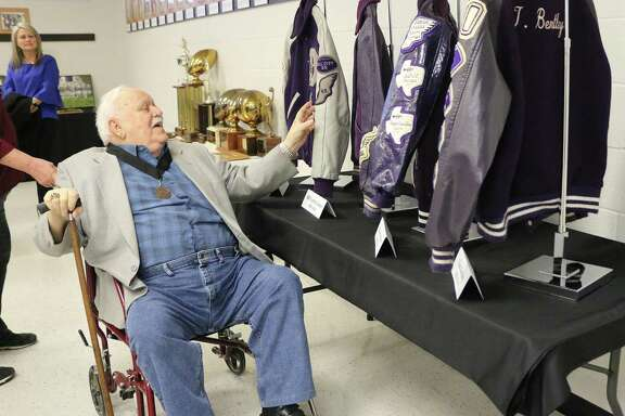 Leard Conner was in complete amazement as he traversed around the Dayton ISD Hall of Fame. Conner said he had no idea that he would ever find himself inducted but was honored.