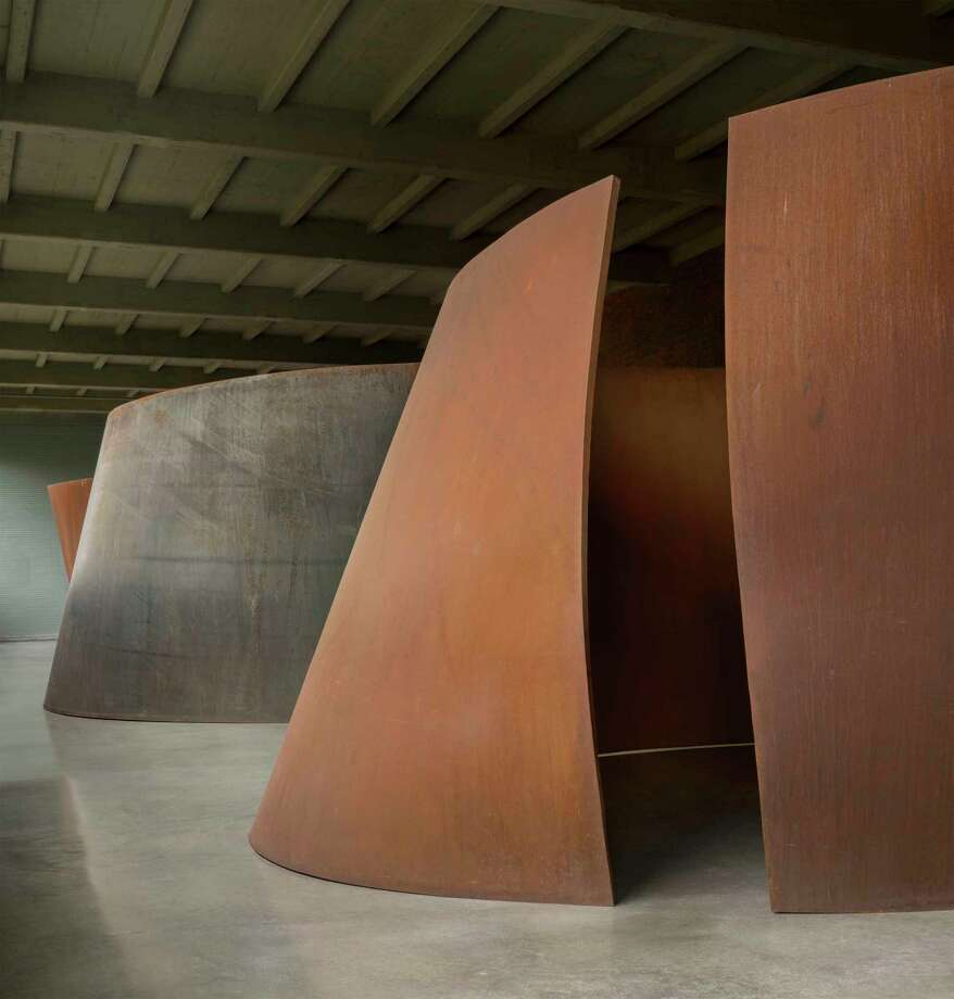 Installation of artwork by Richard Serra. Photo: Contributed Photo