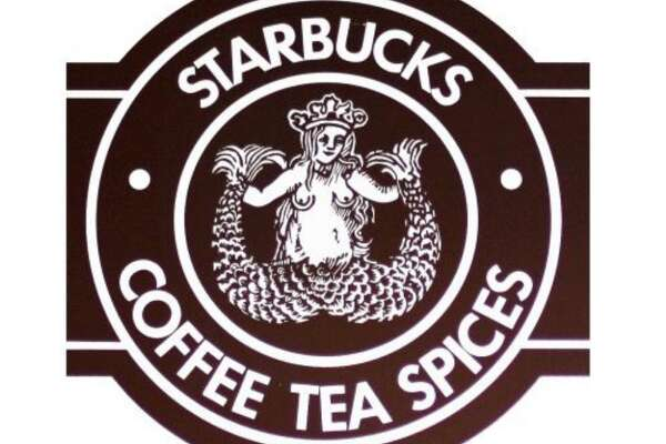 """Starbucks: then A relatively new company, the first Starbucks opened in 1971 at Seattle's Pike Place Market. The company was named after an obscure literary character (Capt.Ahab's first mate, Starbuck, in """"Moby Dick""""), and the original logo continues this seafaring theme. An image of a Siren from a 16th-century Nordic woodcut would have adorned takeaway cups in early years. This slideshow was first published on theStacker.com"""