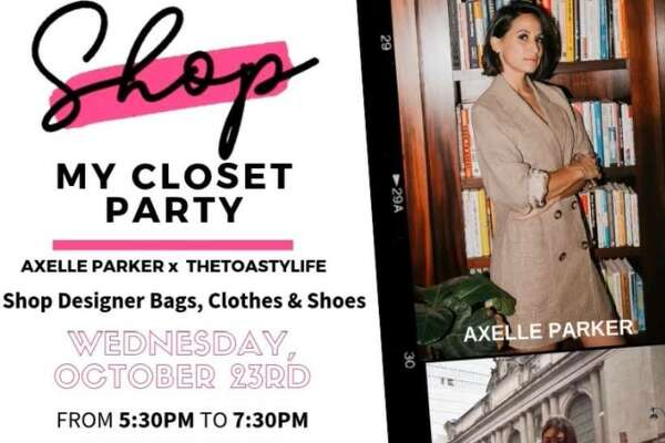 "Axelle Francine-Parker is hosting a closet purge party at her Le Petit Med Spa. She launched the business earlier this year on the outskirts of town while husband Tony Parker played for the Charlotte Hornets after 17 seasons with the Spurs. The Oct. 23 shopping event will include a ""large selection"" of like new handbags, clothes and footwear by designer names like Valentino, Balmain, Louboutin, Celine, YSL, Dior, Alexander McQueen, Dior, Louis Vuitton."