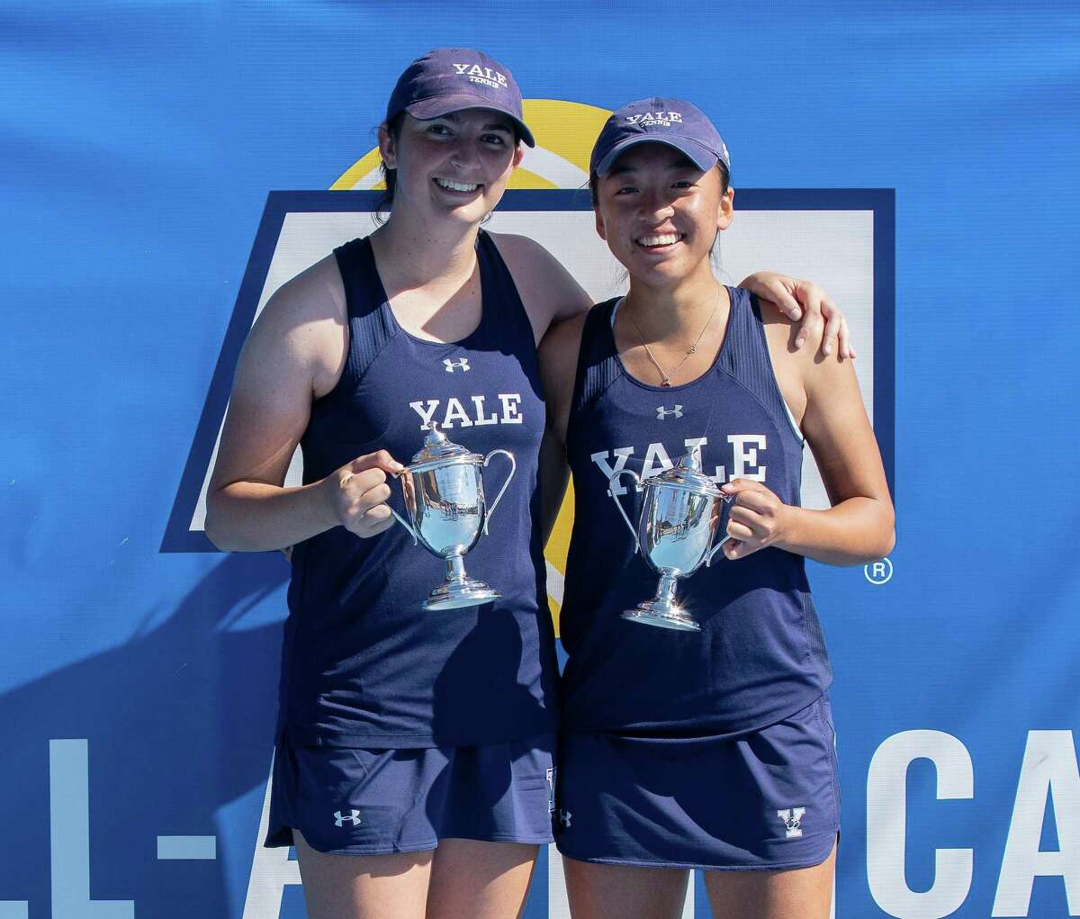 Yale doubles team Jessie Gong and Samantha Martinelli posted five wins over ranked teams during fall portion of the women's tennis schedule.