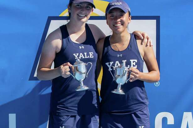 Yale doubles team Samantha Martinelli and Gong