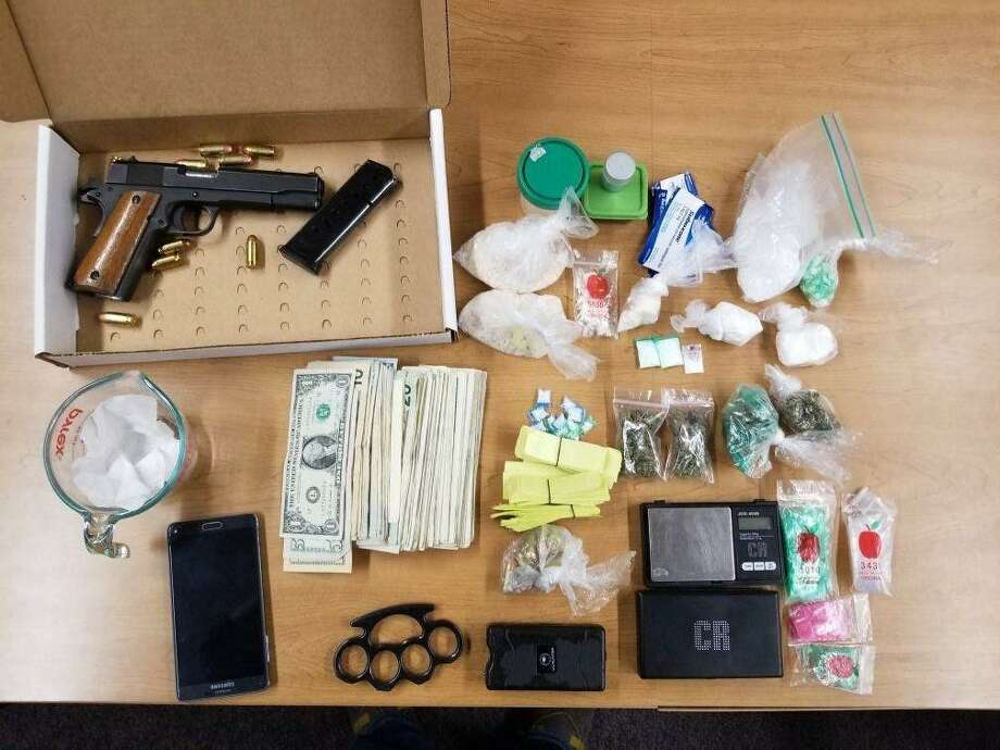 Items allegedly found in the possession of Shannon Wicker. Photo: New Haven Police Department /