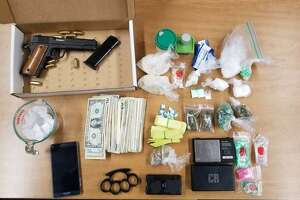 Items allegedly found in the possession of Shannon Wicker.