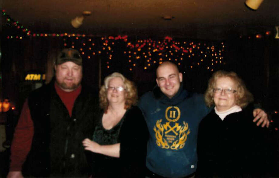 From left, pictured areJon and Lori Makkenan, Sam McLaren (Doris' grandson) and Doris. Sam met and fell in love with a young woman named Samantha in North Pole, Alaska. Sam was diagnosed with cancer at the age of 23. This is him at the age of 27 shortly before he succumbed to the disease.