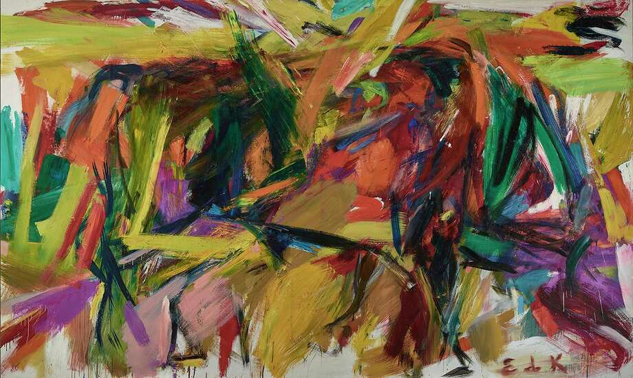 """Elaine de Kooning (1918-1989). """"Bullfight,"""" 1959 oil on canvas 77 3/8 in. x 130 1/2 in. (197.7 x 331.47 cm).