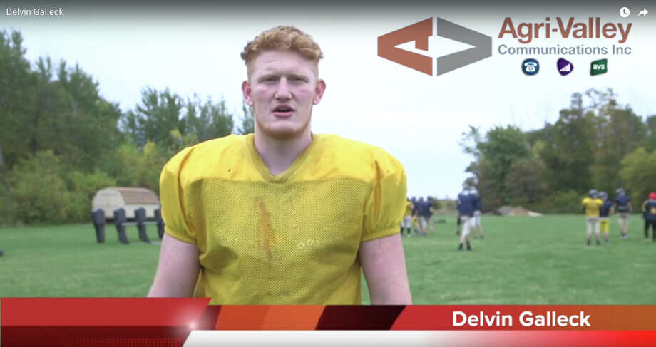 North Huron football standout Delvin Galleck is the Agri-Valley Communications Athlete of the Week.