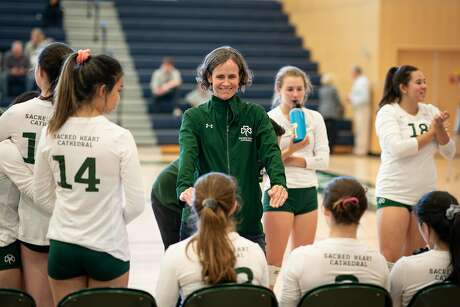 Sacred Heart Cathedral girls volleyball coach Margi Beima recently won her 500th career match.