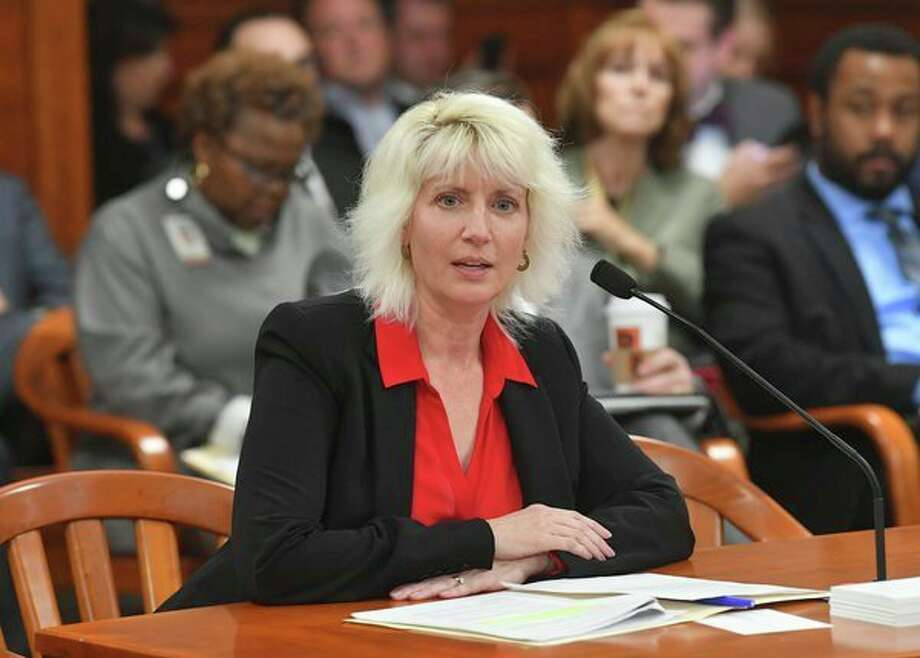 Rep. Annette Glenn, R-Midland, testifies this week in support of her plan to give local governments more flexibility for funding bridge repairs. (Photo provided/Tim Martin).