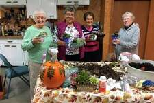 Joyce Kench, Janie Lawler, Jane Oliver and Mary Norbeck created succulent planters for Saturday's Marketplace at United Methodist Church. (Courtesy photo)