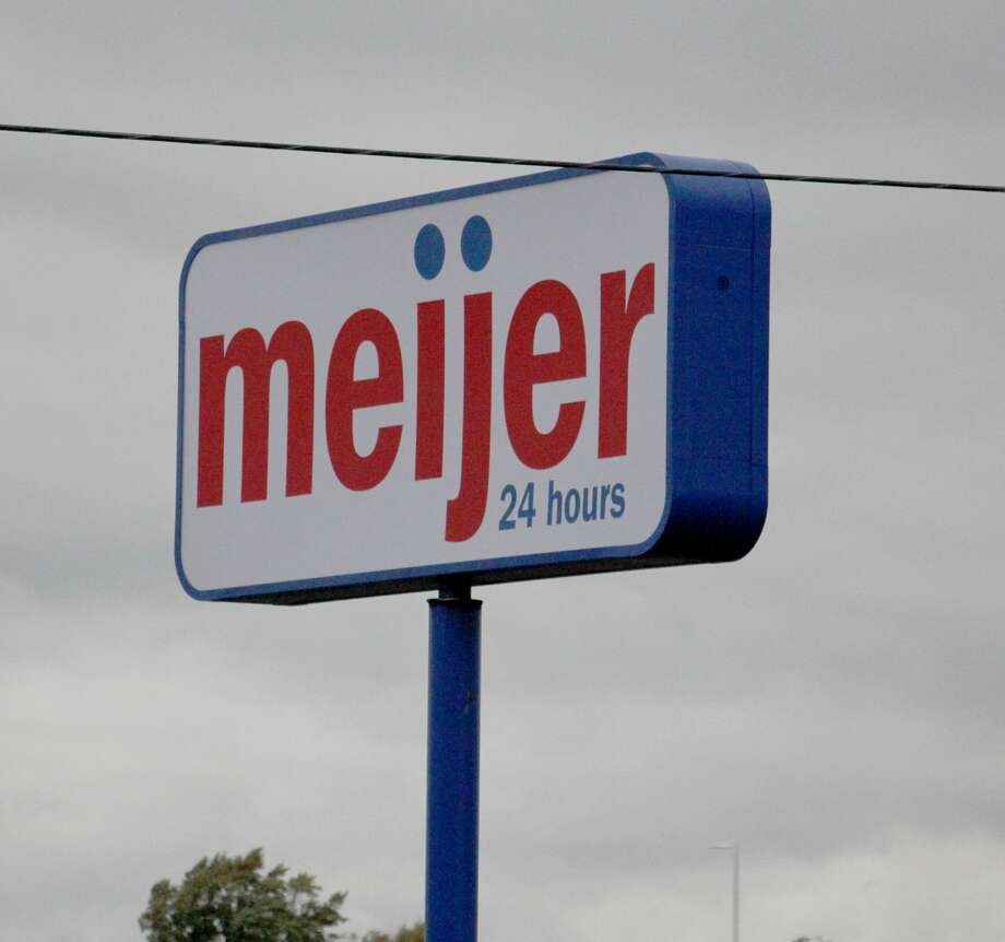 A sign for the new Meijer store stands by the road in Bad Axe shortly after being installed last fall. The opening of the Meijer store has been delayed due to the coronavirus outbreak, but its gas station and convenience store is set to open next month. Photo: Bradley Massman/Huron Daily Tribune