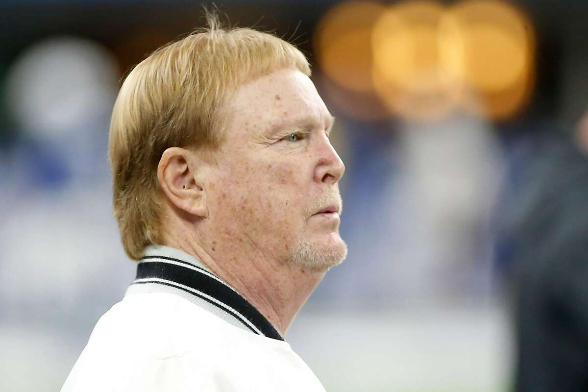 INDIANAPOLIS, INDIANA - SEPTEMBER 29: Mark Davis owner of the Oakland Raiders on the sidelines before the game against the Indianapolis Colts at Lucas Oil Stadium on September 29, 2019 in Indianapolis, Indiana. (Photo by Justin Casterline/Getty Images)