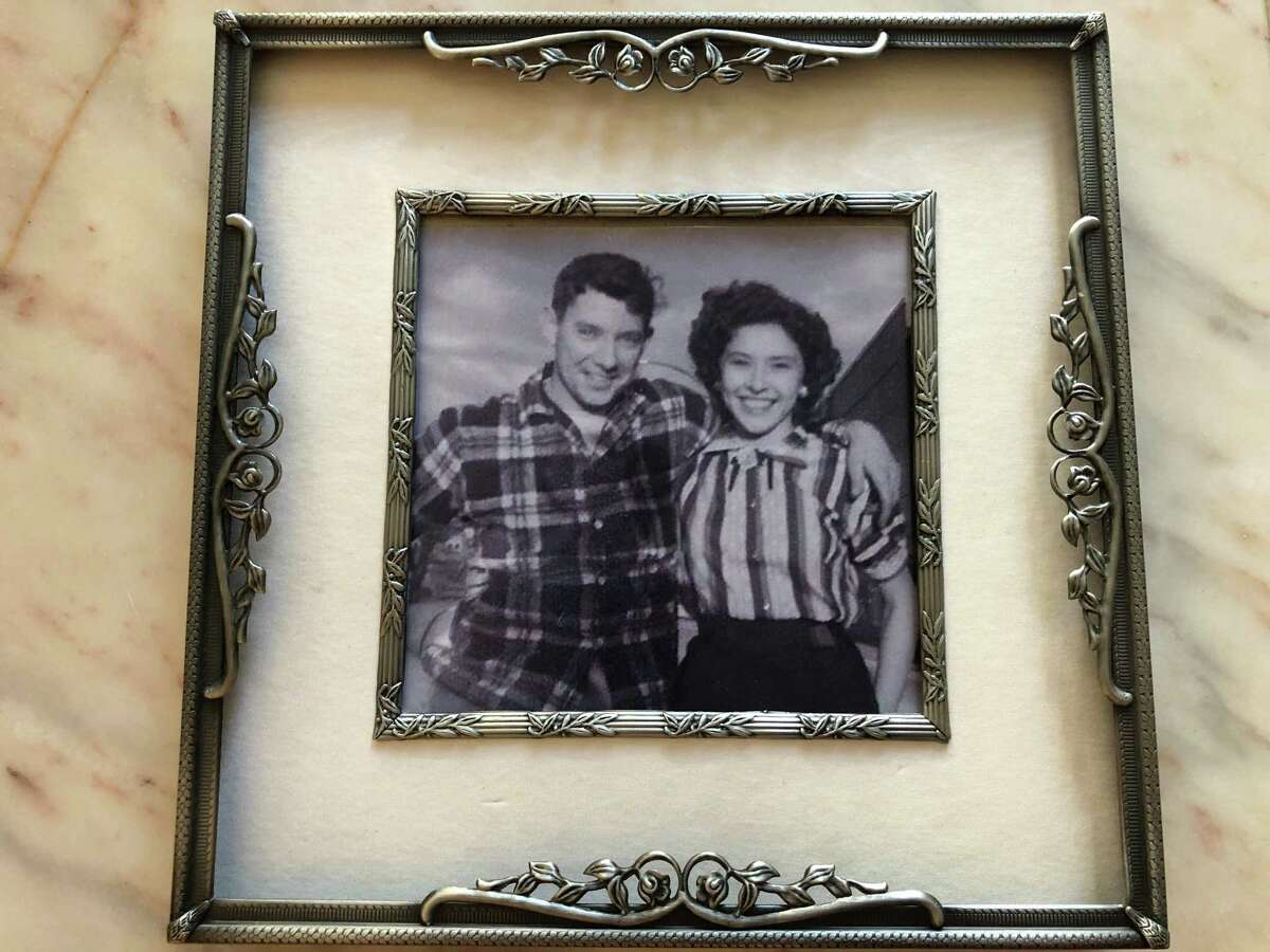 Elsie Cruey with her husband, Harry Cruey, in a photograph when they were younger.