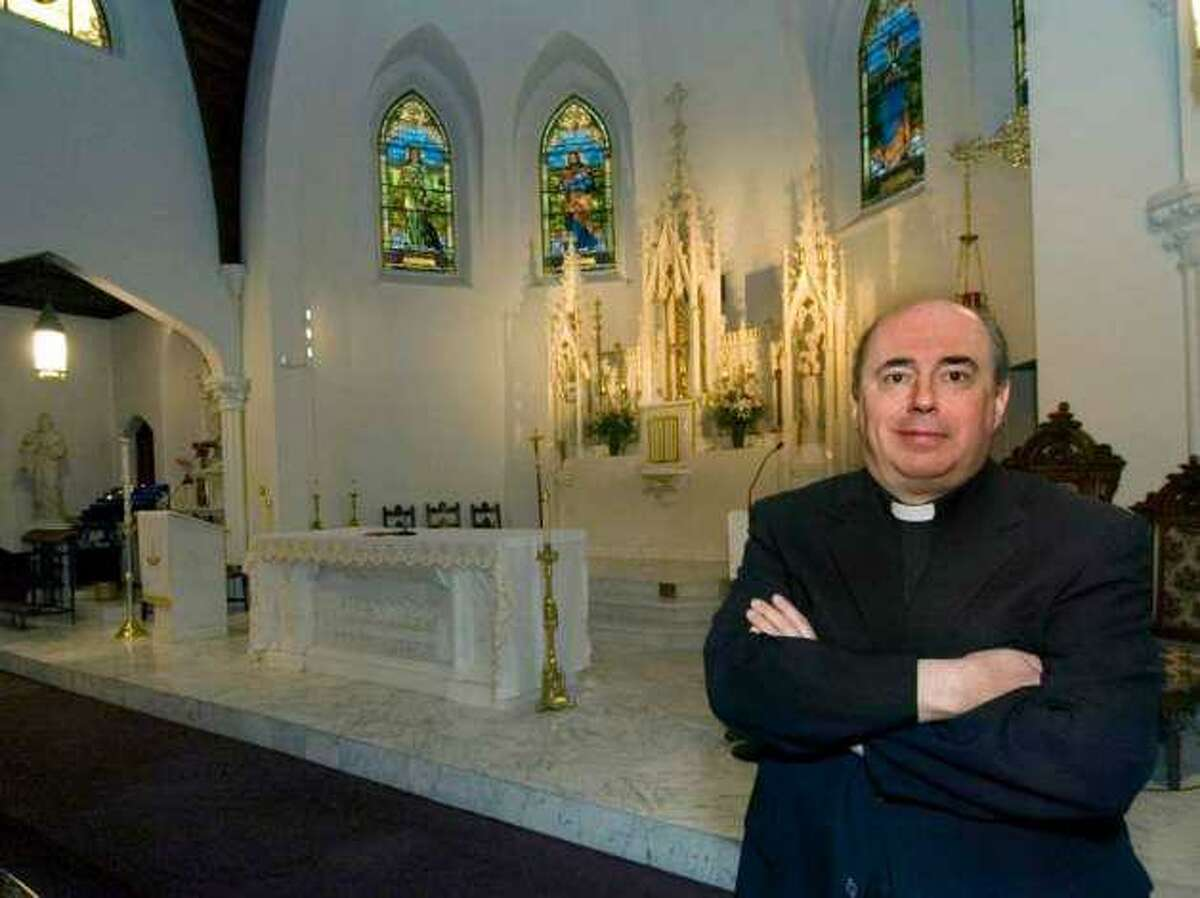 Monsignor Laurence Bronkiewicz inside St. Mary Parish in 2009.