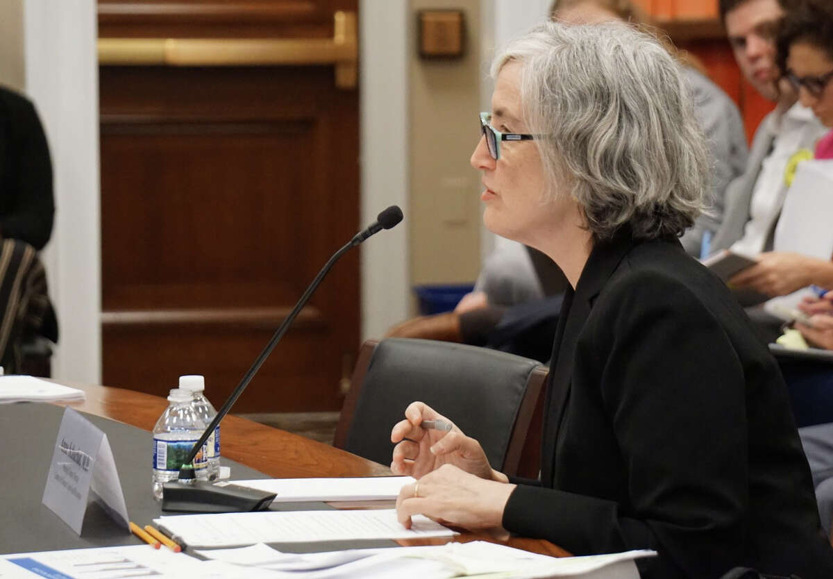 Anne Schuchat, principal deputy director of the U.S. Centers for Disease Control and Prevention, testified to the House Appropriations Committee's Labor, Health and Human Services Subcommittee at the U.S. Capitol in Washington, D.C. on Wednesday October 16, 2019.