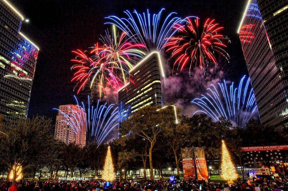 Uptown Houston hosts an event Thanksgiving night with fireworks and holiday displays Photo: Uptown Houston / Bruce Bennett 2014 and beyond