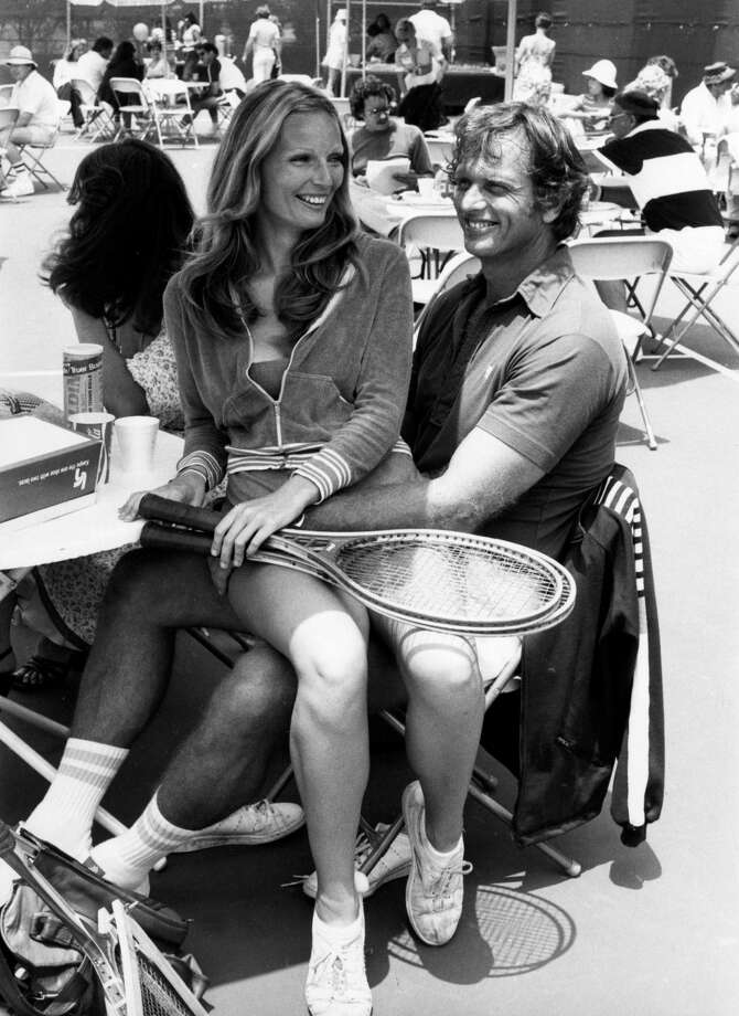 Actor Ron Ely, wife Valerie, attend Third Annual Cathy's Pro-Celebrity Tennis Classic at Billy Jean King Tennis Stadium at Forest Hills in New York City in 1977. Photo: Ron Galella/Ron Galella Collection Via Getty