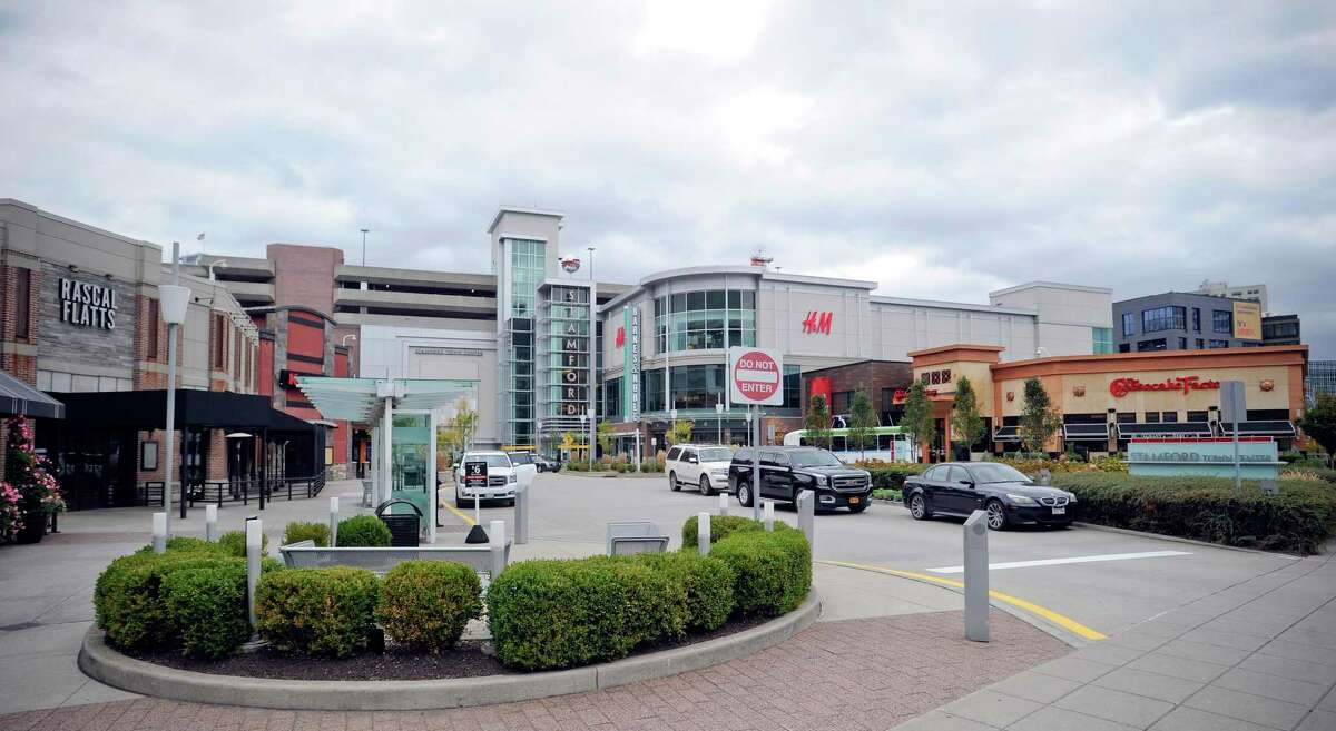 The restaurant row of the Stamford Town Center mall, at 230 Tresser Blvd. The mall is scheduled to re-open on May 20, 2020.