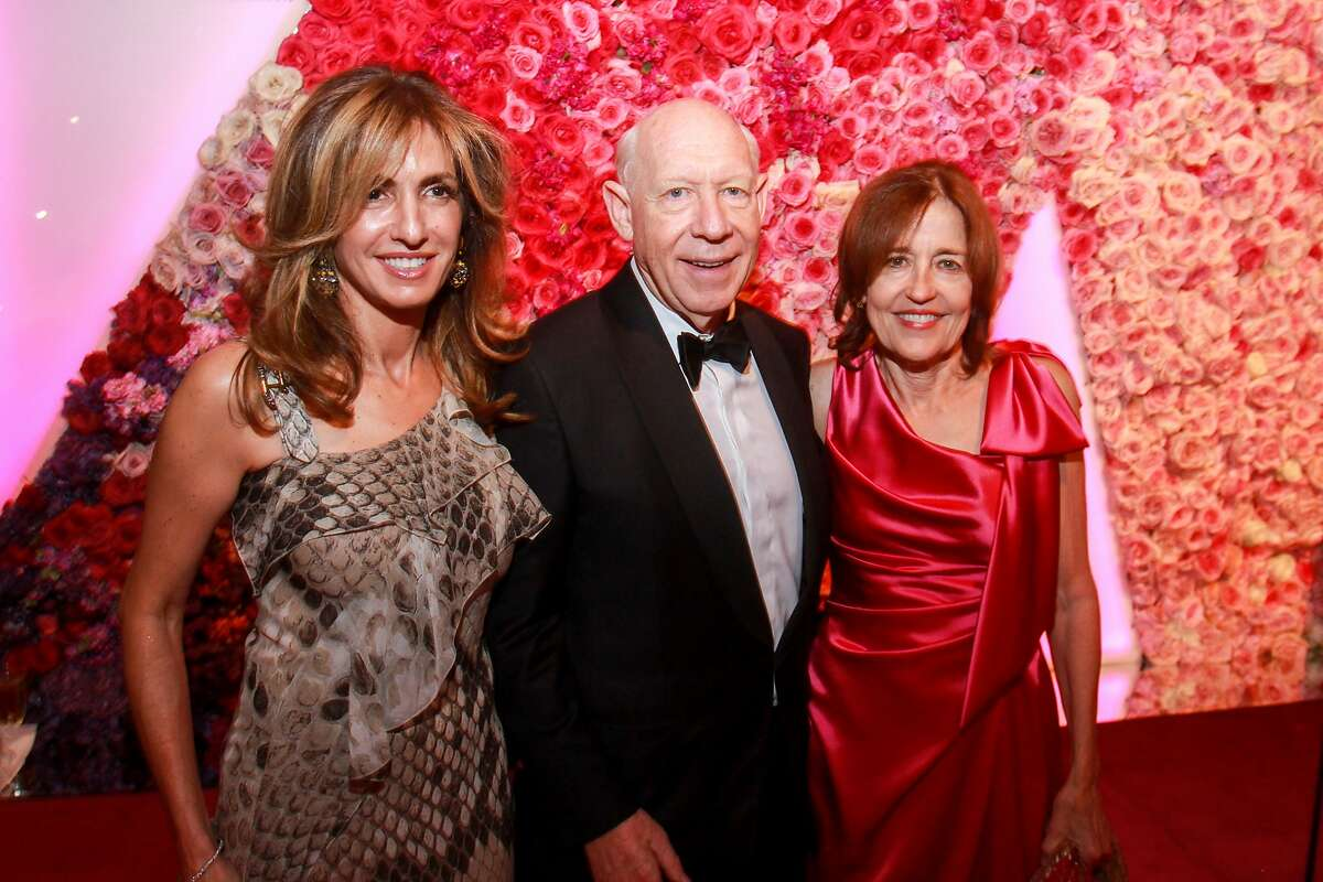 Sima Ladjevardian, from left, with Bill and Andrea White at the MFAH Grand Gala Ball on October 4, 2019.