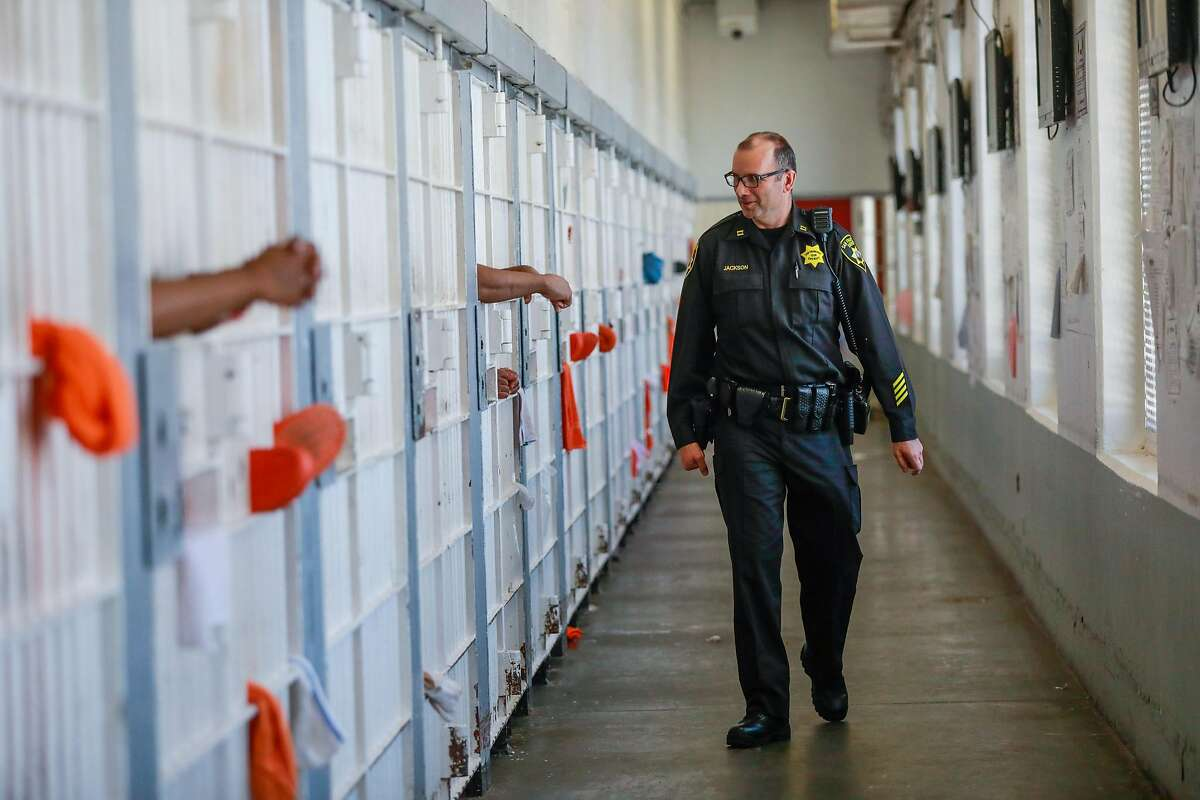 Captain Jason Jackson gives a tour of County Jail 4 in the Hall of Justice in San Francisco, California, on Thursday, Nov. 1, 2018.